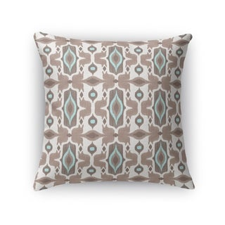 Kavka Designs ivory/ turquoise/ brown mojave accent pillow with insert