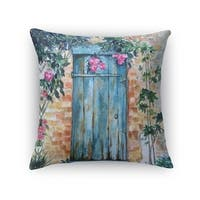 Kavka Designs turquoise/ pink/ brown wood door accent pillow with insert