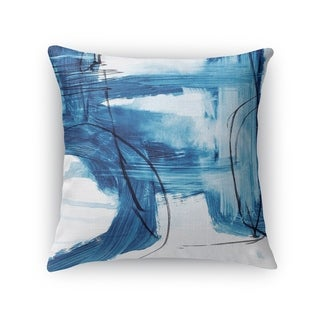Kavka Designs blue/ ivory blue abstract set six accent pillow with insert