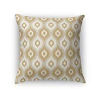 Kavka Designs tan/ ivory/ gold harmony accent pillow with insert