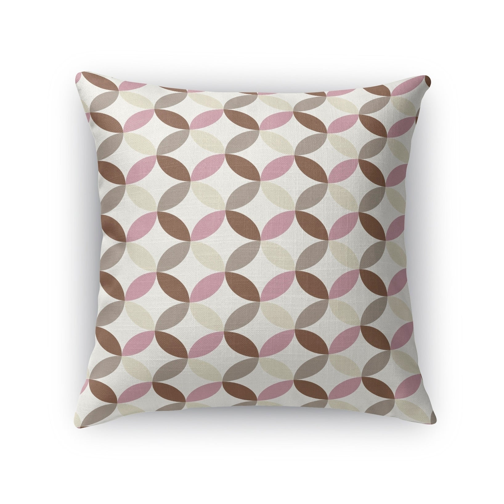Kavka Designs ivory/ pink/ purple oasis accent pillow with insert (18 x 18)