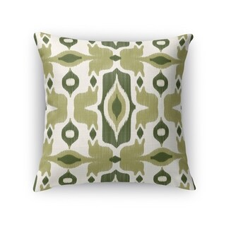 Kavka Designs green/ ivory cosmos green accent pillow with insert