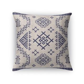 Kavka Designs beige/ blue aztec light blue accent pillow with insert