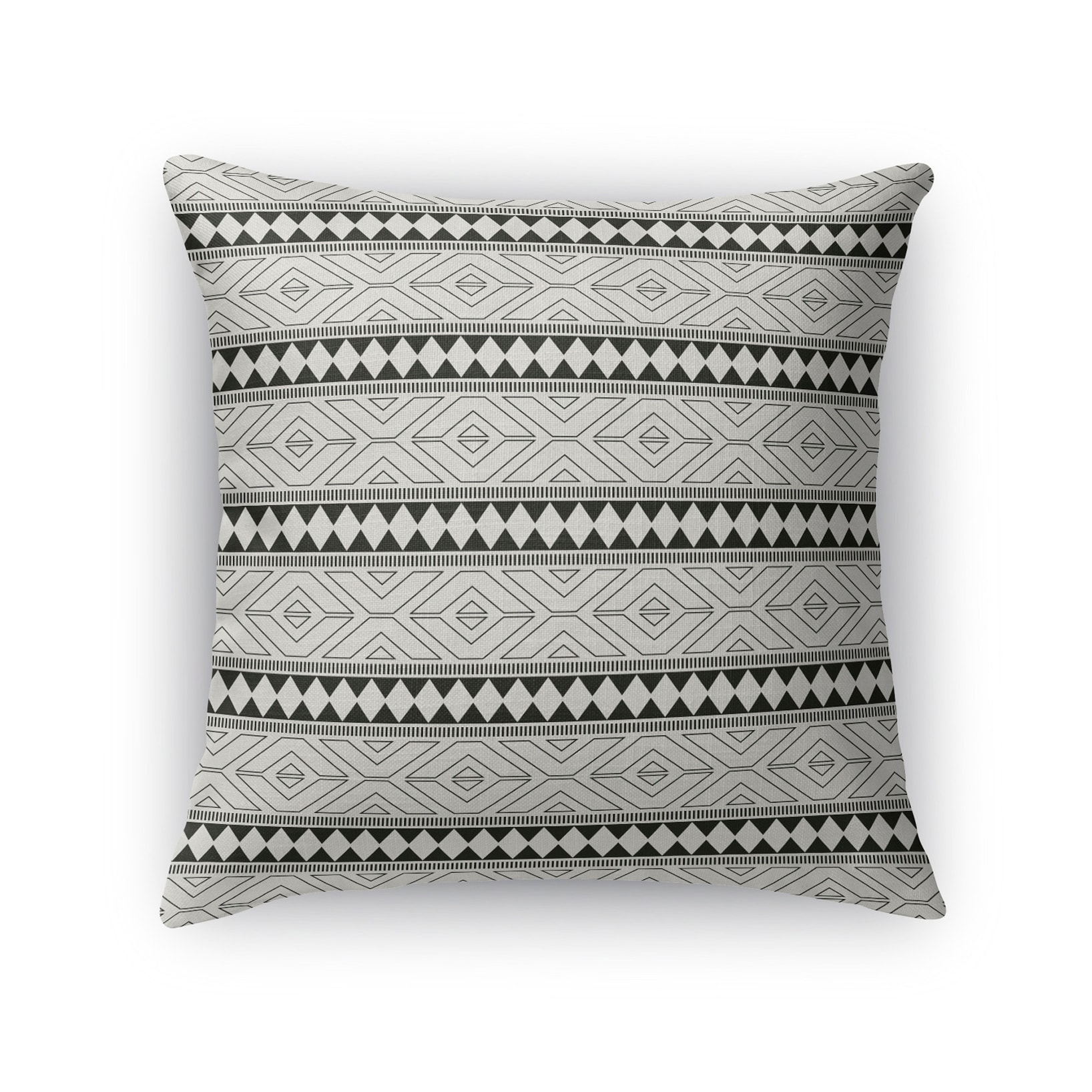 Kavka Designs black/ grey marrakesh black accent pillow with insert (18 x 18)