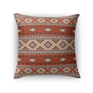 Kavka Designs red/ grey sedona black accent pillow with insert