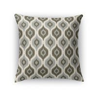 Kavka Designs grey/ ivory harmony accent pillow with insert