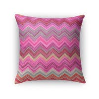 Kavka Designs pink/ purple/ blue pink chevron accent pillow with insert