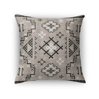 Kavka Designs beige/ black aztec black accent pillow with insert
