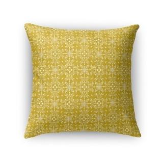 Kavka Designs yellow mongar accent pillow with insert