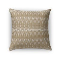 Kavka Designs gold chevron accent pillow with insert