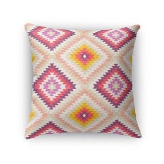 Kavka Designs beige/ pink/ ivory/ purple dakha beige accent pillow with insert
