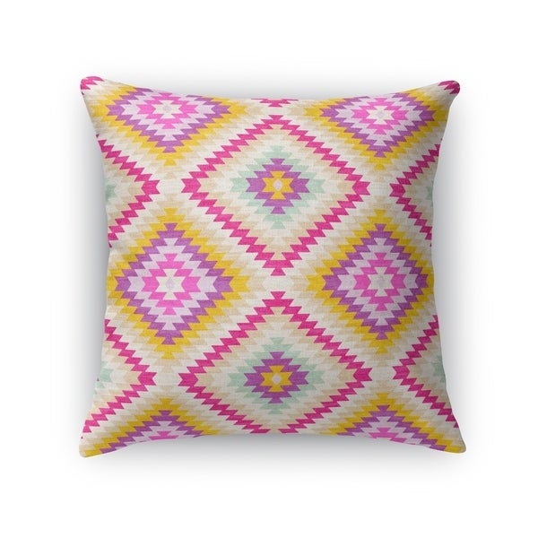 Kavka Designs ivory/ pink/ gold/ purple dakha ivory accent pillow with insert
