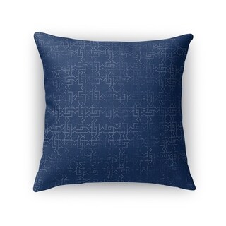 Kavka Designs blue gridlocked accent pillow with insert