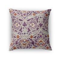 Kavka Designs purple/ grey/ orange purple charlotte accent pillow with insert