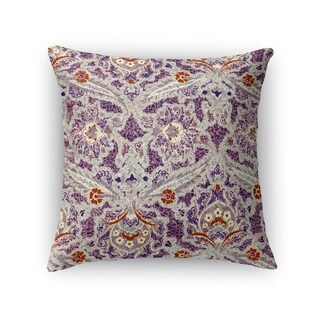 Kavka Designs purple/ grey/ orange purple charlotte accent pillow with insert