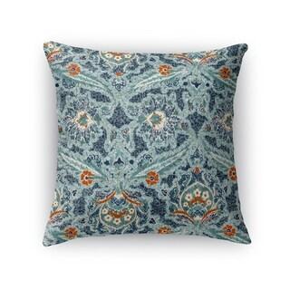 Kavka Designs blue/ orange blue charlotte accent pillow with insert