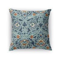 Kavka Designs blue/ orange blue charlotte accent pillow with insert