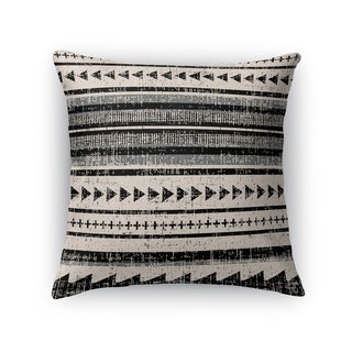 Kavka Designs ivory/ grey/ beige triangle stripe accent pillow with insert