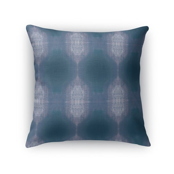 Kavka Designs blue/ purple tie dye accent pillow with insert