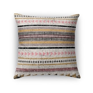 Kavka Designs purple/ orange/ grey/ yellow triangle stripe accent pillow with insert