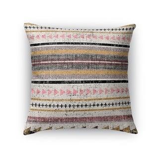 Kavka Designs purple/ orange/ grey/ yellow triangle stripe accent pillow with insert