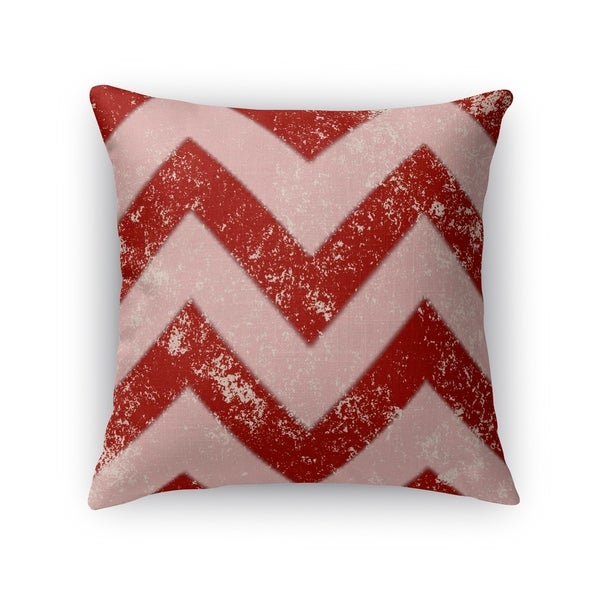 Kavka Designs red/ pink candy cane chevron accent pillow with insert
