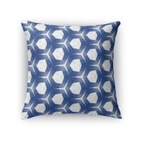 Kavka Designs blue valencia accent pillow with insert