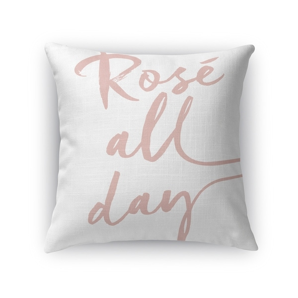 Kavka Designs white rose all day accent pillow with insert