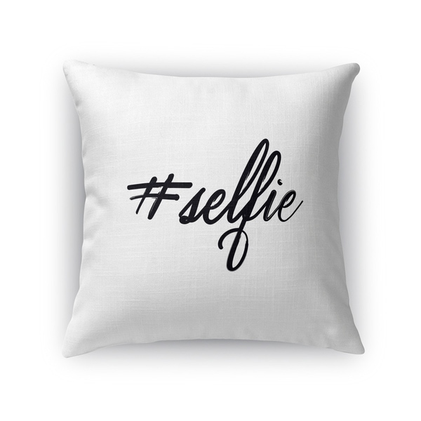 Kavka Designs white #selfie accent pillow with insert