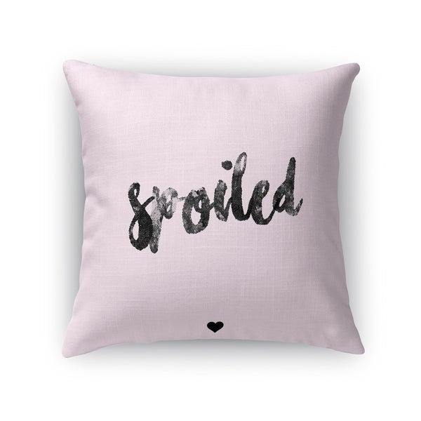 Kavka Designs pink spoiled accent pillow with insert