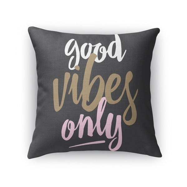 Kavka Designs black good vibes only black accent pillow with insert