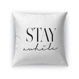 Kavka Designs black/ white stay awhile accent pillow with insert