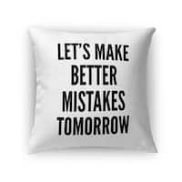 Kavka Designs black/ white mistakes accent pillow with insert