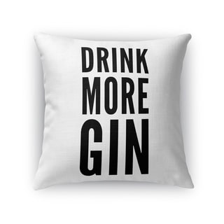 Kavka Designs black/ white gin accent pillow with insert