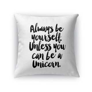 Kavka Designs black/ white unicorn accent pillow with insert