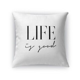 Kavka Designs black/ white life is good accent pillow with insert