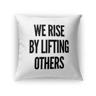 Kavka Designs black/ white lifting accent pillow with insert
