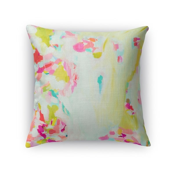 Kavka Designs pink/ blue/ green/ yellow shc sheer scarf accent pillow with insert