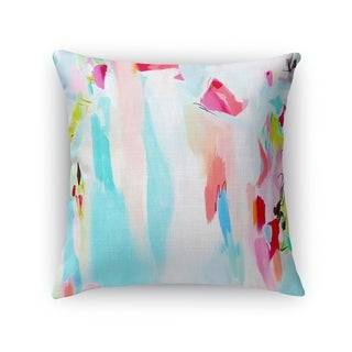 Kavka Designs blue/ pink/ red/ green tattoo testimonial accent pillow with insert