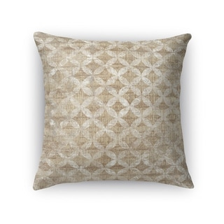 Kavka Designs tan/ ivory guadalupe accent pillow with insert