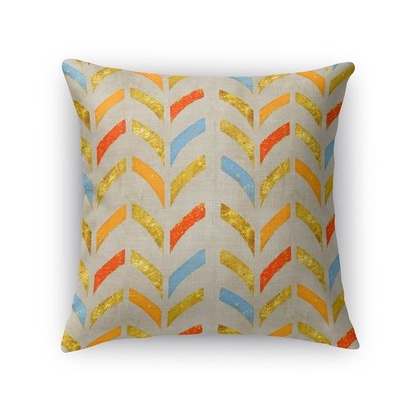 Kavka Designs orange/ blue/ gold/ grey bari accent pillow with insert