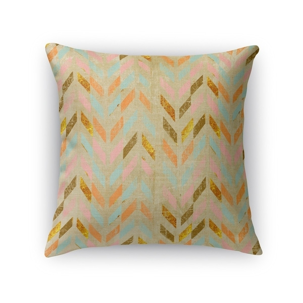 Kavka Designs pink/ teal/ brown palermo accent pillow with insert