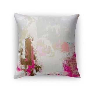 Kavka Designs grey/ brown/ pink/ valley talk accent pillow with insert