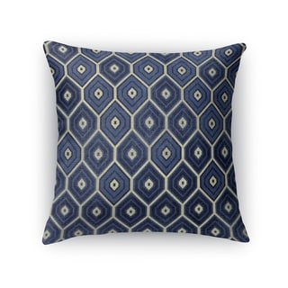 Kavka Designs blue honey comb blue accent pillow with insert