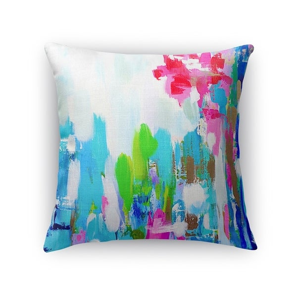 Kavka Designs blue/ green/ pink/ red/ ivory tomato tamata accent pillow with insert