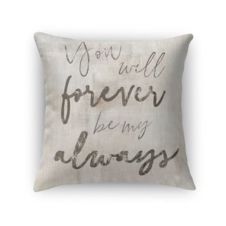Kavka Designs tan/ grey forever my always accent pillow with insert