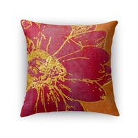 Kavka Designs orange/ red floral accent pillow with insert