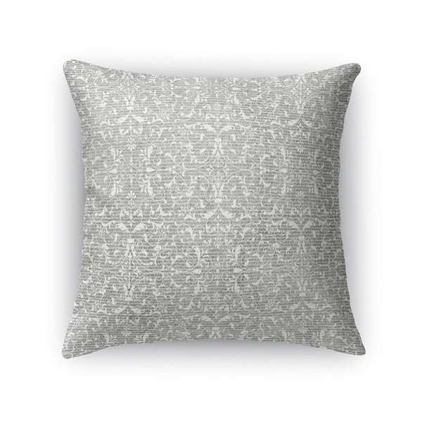 Kavka Designs grey pamplona accent pillow with insert