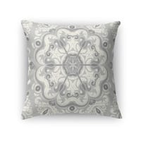 Kavka Designs grey naples accent pillow with insert