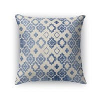 Kavka Designs blue/ ivory cagliari accent pillow with insert